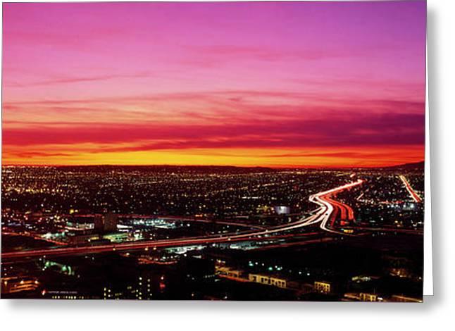 Aerial Los Angeles Ca Greeting Card