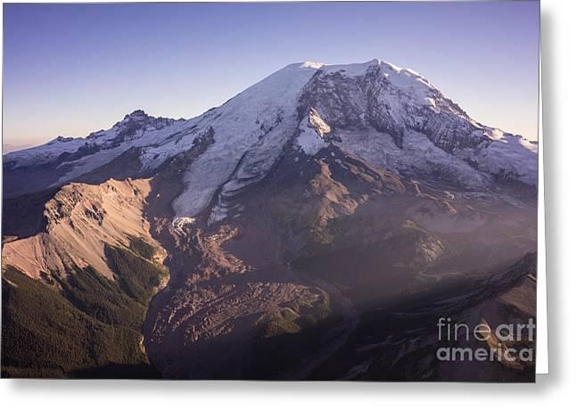 Aerial Mount Rainier View Greeting Card