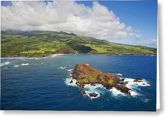 Aerial Of Alau Islet Greeting Card by Ron Dahlquist - Printscapes