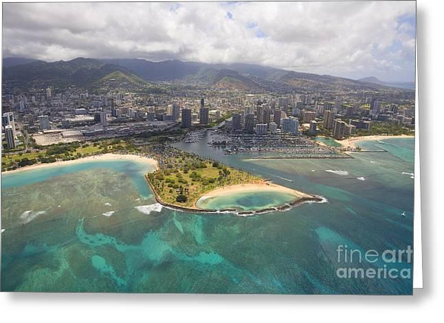 Aerial Of Magic Island Greeting Card