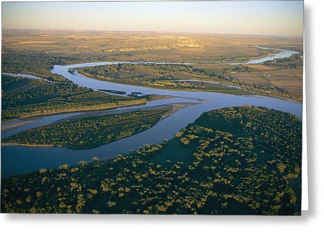 Confluence Greeting Cards - Aerial Of The Confluence Greeting Card by Sam Abell