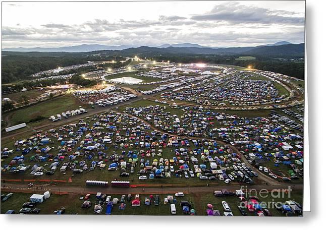 Aerial Photo Of Lockn' Festival Greeting Card