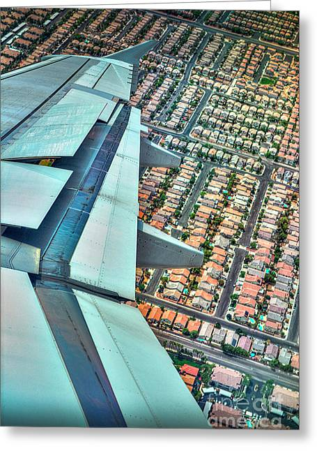 Aerial Right Turn Greeting Card