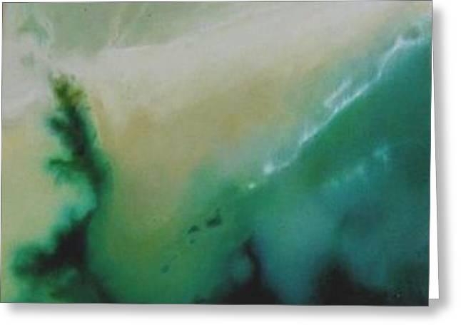 Aerial Seascape Greeting Card by Jennifer Webb