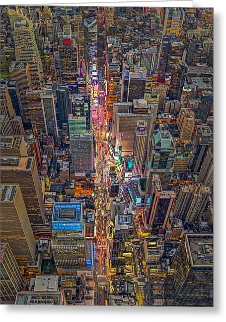 Aerial Times Square New York City  Greeting Card