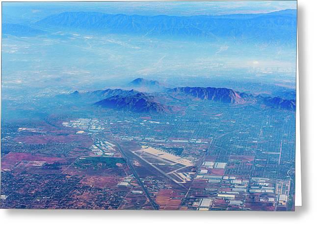 Aerial Usa. Los Angeles, California Greeting Card by Alex Potemkin