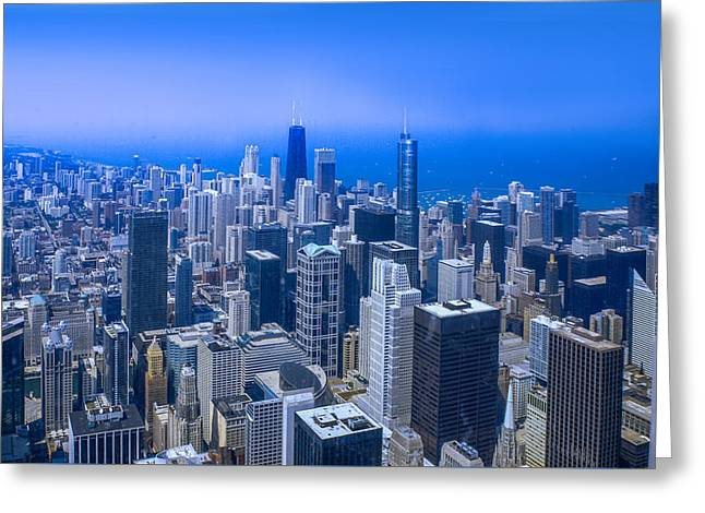 Chicago Skyline Aerial View  Greeting Card