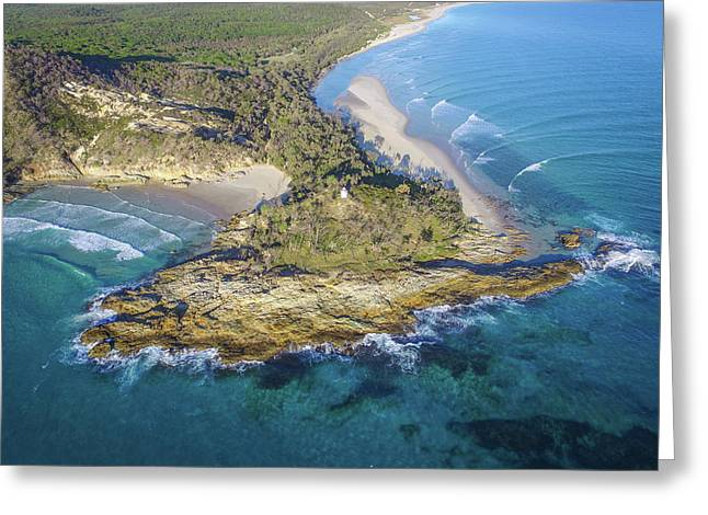 Aerial View Of North Point, Moreton Island Greeting Card