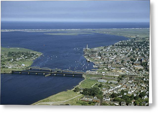 Aerial View Of The Mouth Of Merrimack Greeting Card by Jack Fletcher