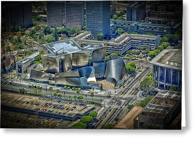 Aerial View Of The Walt Disney Concert Hall Greeting Card by Mountain Dreams