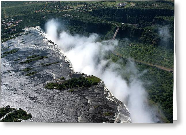 Aerial View Of Victoria Falls Greeting Card