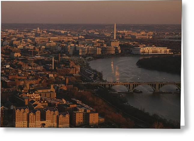 Aerial View Of Washington, D.c Greeting Card by Kenneth Garrett