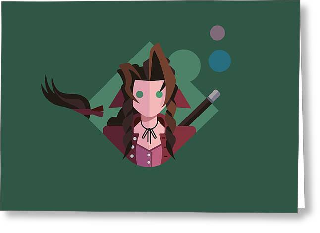 Greeting Card featuring the digital art Aeris by Michael Myers