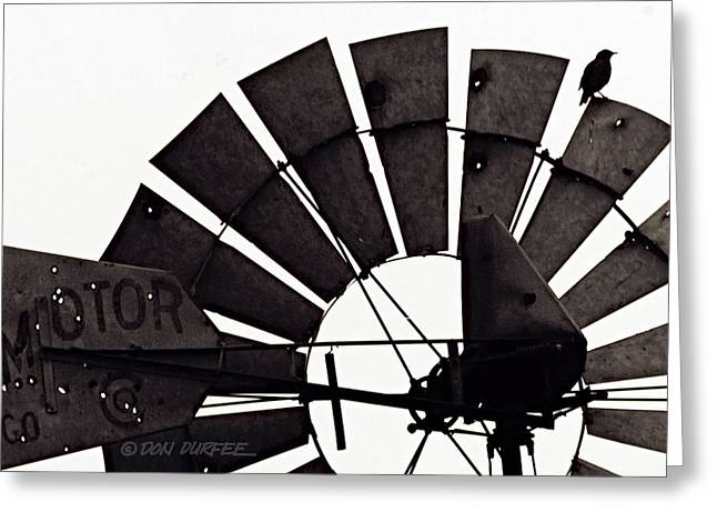 Greeting Card featuring the photograph Aermotor Bird by Don Durfee