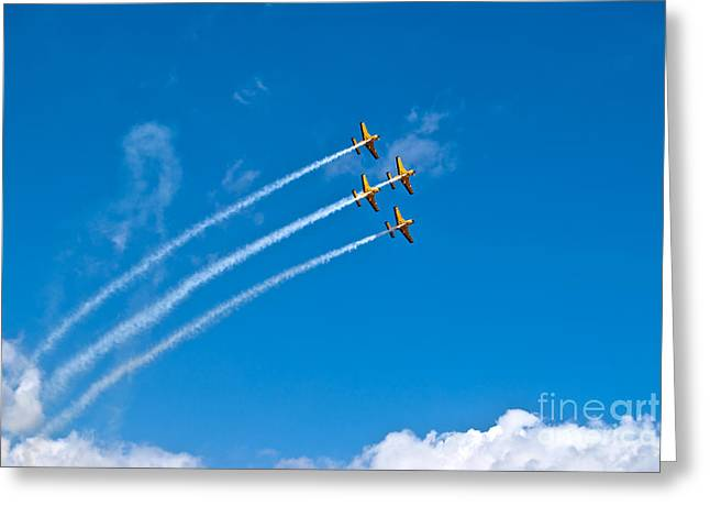 Greeting Card featuring the photograph Aerobatics by Yurix Sardinelly
