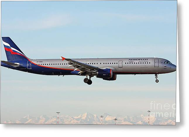 Aeroflot - Russian Airlines Airbus A321-211 Greeting Card