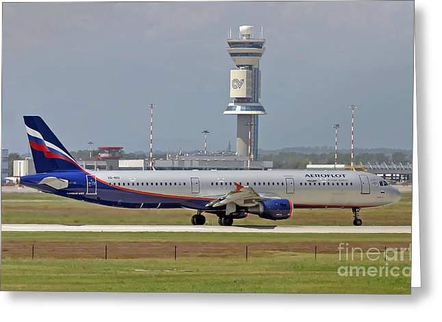 Aeroflot - Russian Airlines Airbus A321-211 - Vq-bei Greeting Card