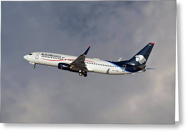Aeromexico Boeing 737-81d Greeting Card