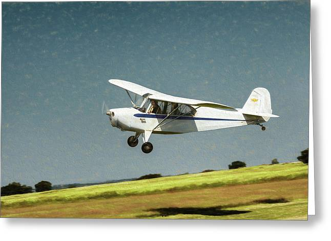 Greeting Card featuring the photograph Aeronca 7a C by James Barber