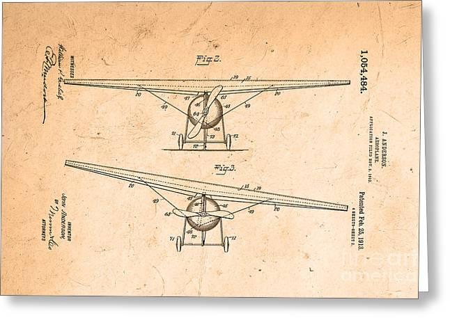 Aeroplane 1913 Greeting Card