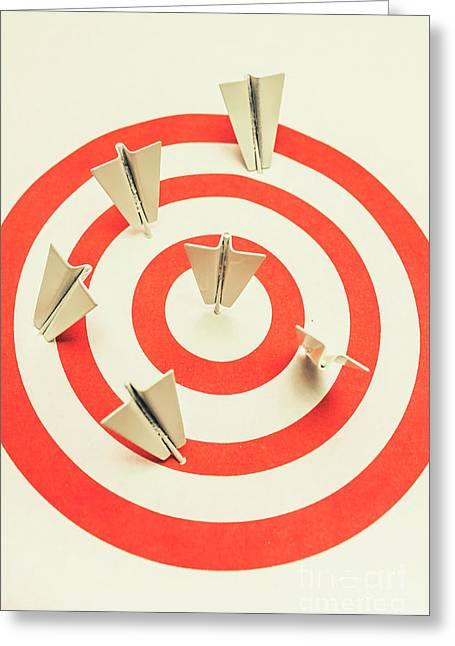 Aeroplane Target Pin Board Greeting Card