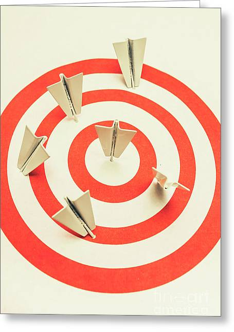 Aeroplane Target Pin Board Greeting Card by Jorgo Photography - Wall Art Gallery