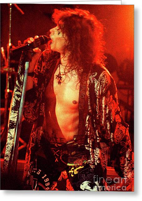 Aerosmith-94-steven-1188 Greeting Card
