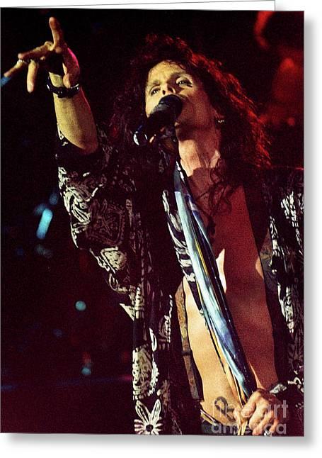 Aerosmith-94-steven-1194 Greeting Card