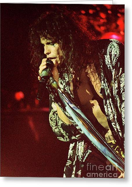 Aerosmith-94-steven-1195 Greeting Card
