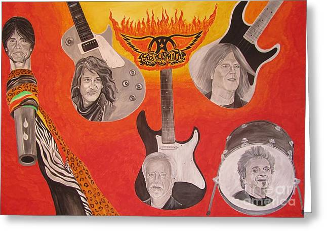 Aerosmith Painting Greeting Card