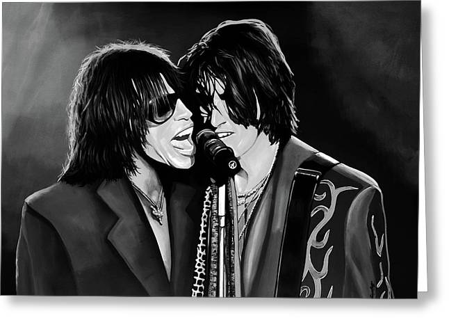 Aerosmith Toxic Twins Mixed Media Greeting Card