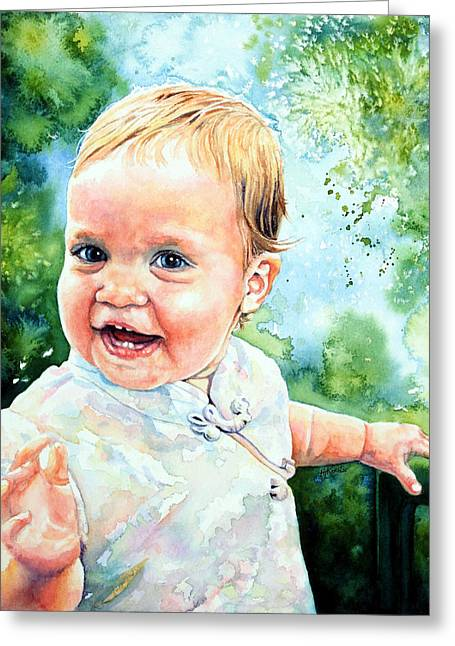 Aeryn Portrait Greeting Card by Hanne Lore Koehler
