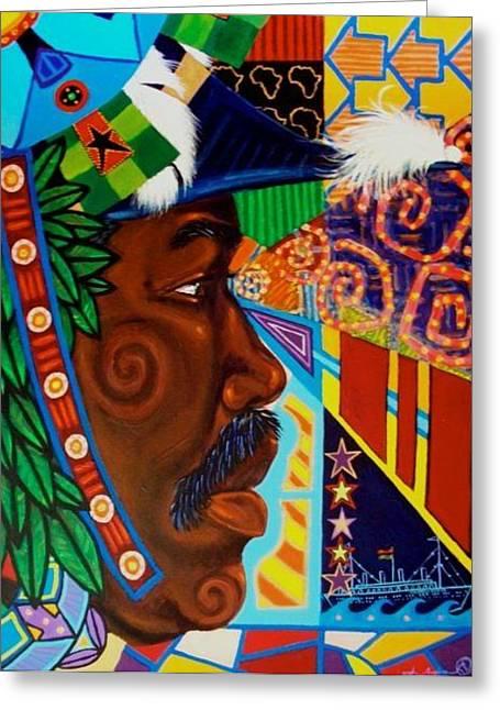 Aesthetic Ascension Marcus Greeting Card by Malik Seneferu