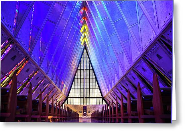 A F A Cadet Chapel Interior Greeting Card