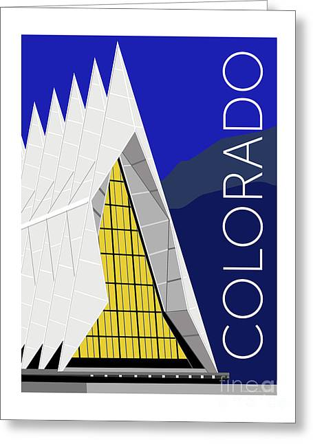 Greeting Card featuring the digital art Colorado Afa Chapel by Sam Brennan