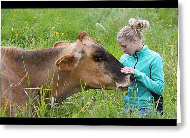 Affection And Fondness - A Candid Portrait Greeting Card by Marty Saccone