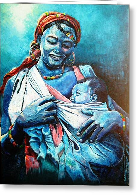 Affection Greeting Card by Bankole Abe