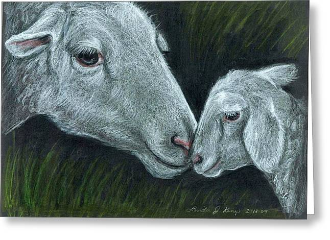 Affectionate Nuzzle Greeting Card by Linda Nielsen
