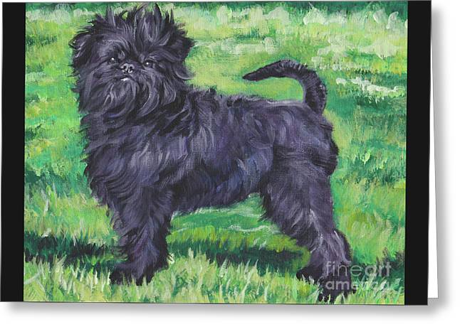 Greeting Card featuring the painting Affenpinscher by Lee Ann Shepard