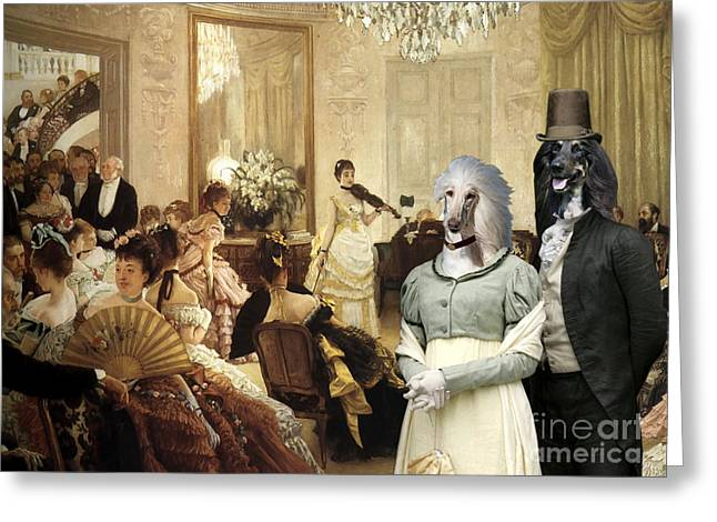 Afghan Hound-the Concert  Canvas Fine Art Print Greeting Card