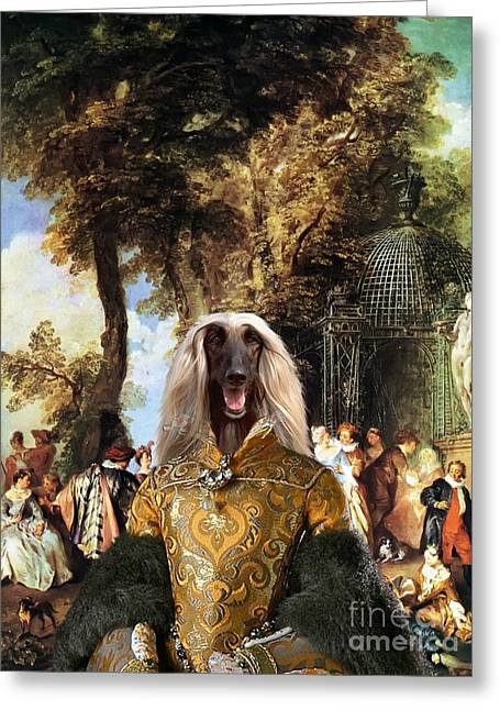 Afghan Hound-the Winch Canvas Fine Art Print Greeting Card by Sandra Sij