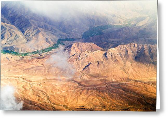 Afghan Valley At Sunrise Greeting Card