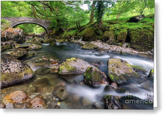 Afon Lledr Bridge Greeting Card
