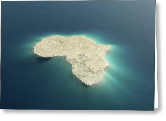 Africa Conceptual Island Design Greeting Card by Johan Swanepoel