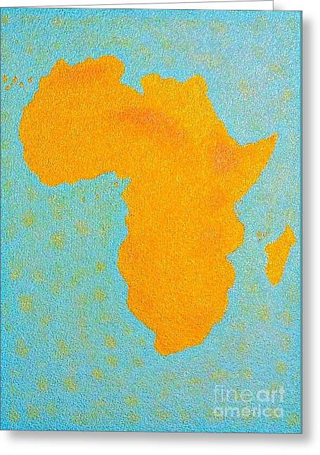 Africa No Borders Greeting Card