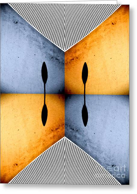 African Abstract Greeting Card by Emilio Lovisa