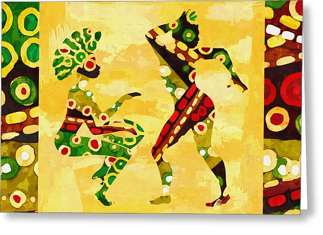 African Dancer Greeting Card