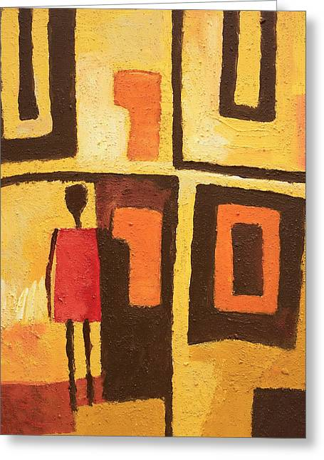 African Decor Greeting Card