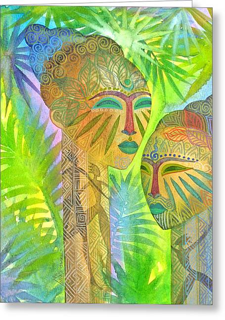African Forest Queens Greeting Card by Jennifer Baird