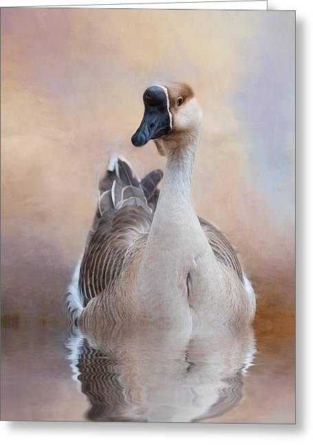 Greeting Card featuring the photograph African Goose by Robin-Lee Vieira